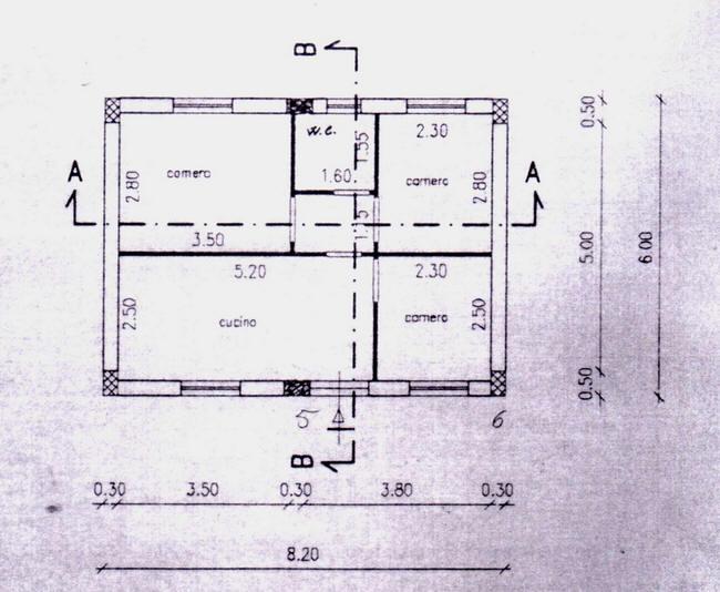 Planimetria della villetta in vendita nelle periferie di San Salvatore di Fitalia