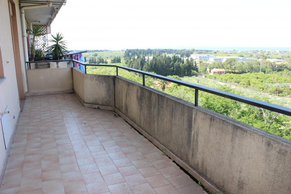 Terrazzo panoramico appartamento in vendita a Capo d'Orlando - Piscittina
