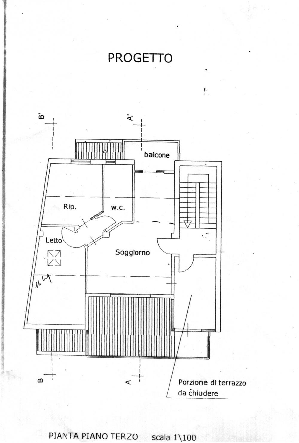 Planimetria casa Capo d'Orlando CD11VF