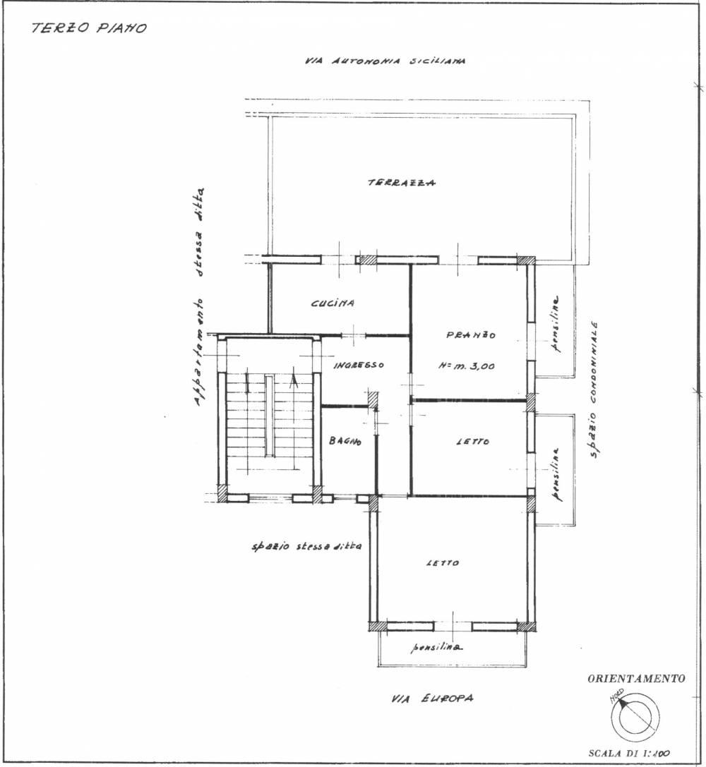 Planimetria casa in vendita a Rocca di Capri Leone
