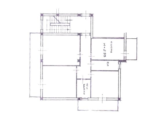 Planimetria appartamento in vendita a Rocca di Capri Leone vicino piazza Mattarella