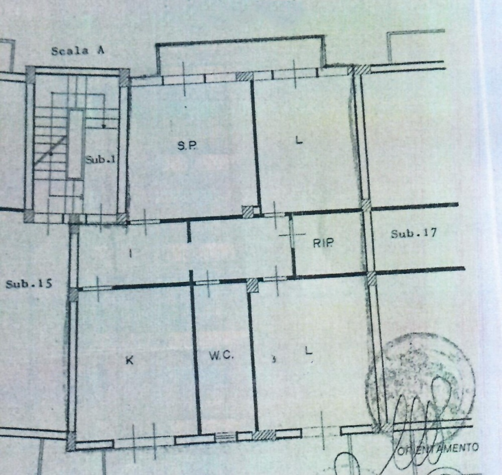 Planimetria appartamento in vendita a Capo d'Orlando - Piscittina