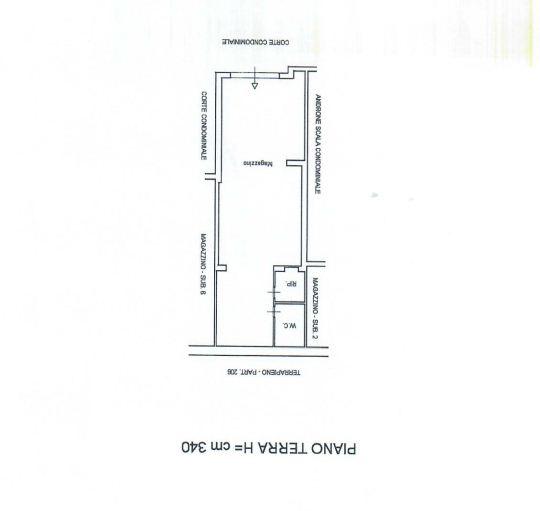 Planimetria garage dell'abitazione in vendita a Rocca di Caprileone vicino piazza Faranda
