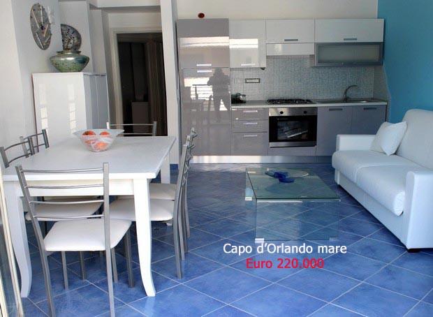 Delizioso appartamento a 50 metri dalla bella spiaggia di San Gregorio