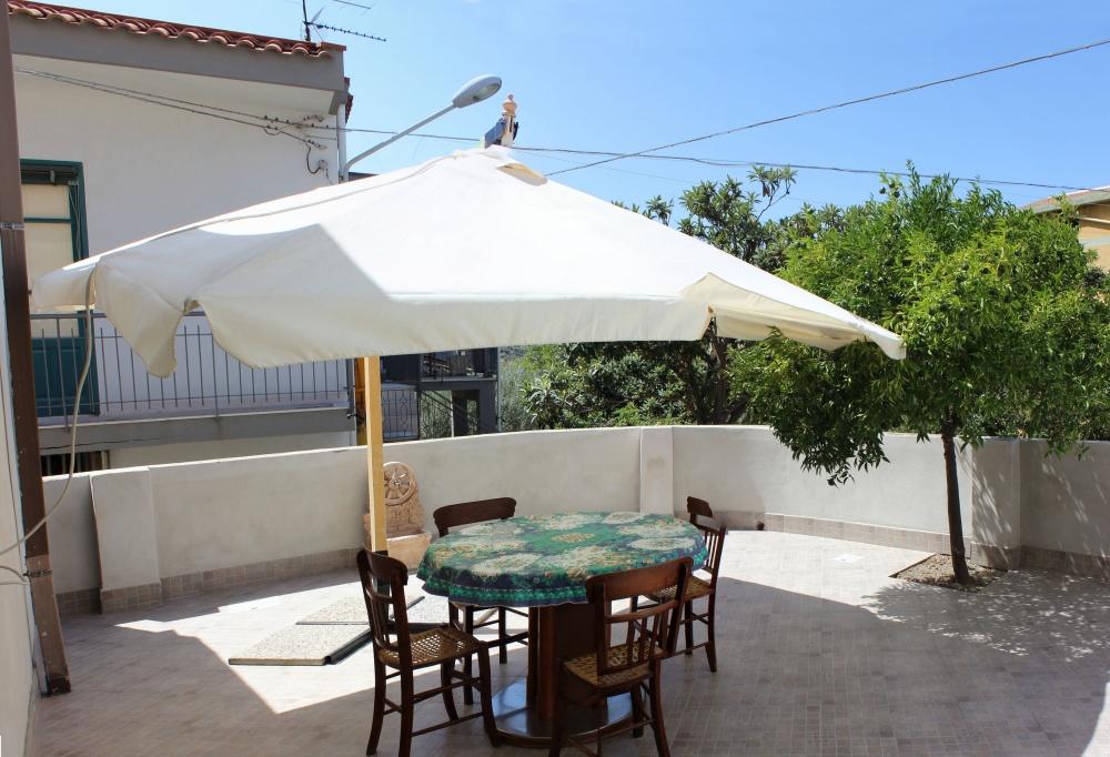 Il terrazzo dell'abitazione