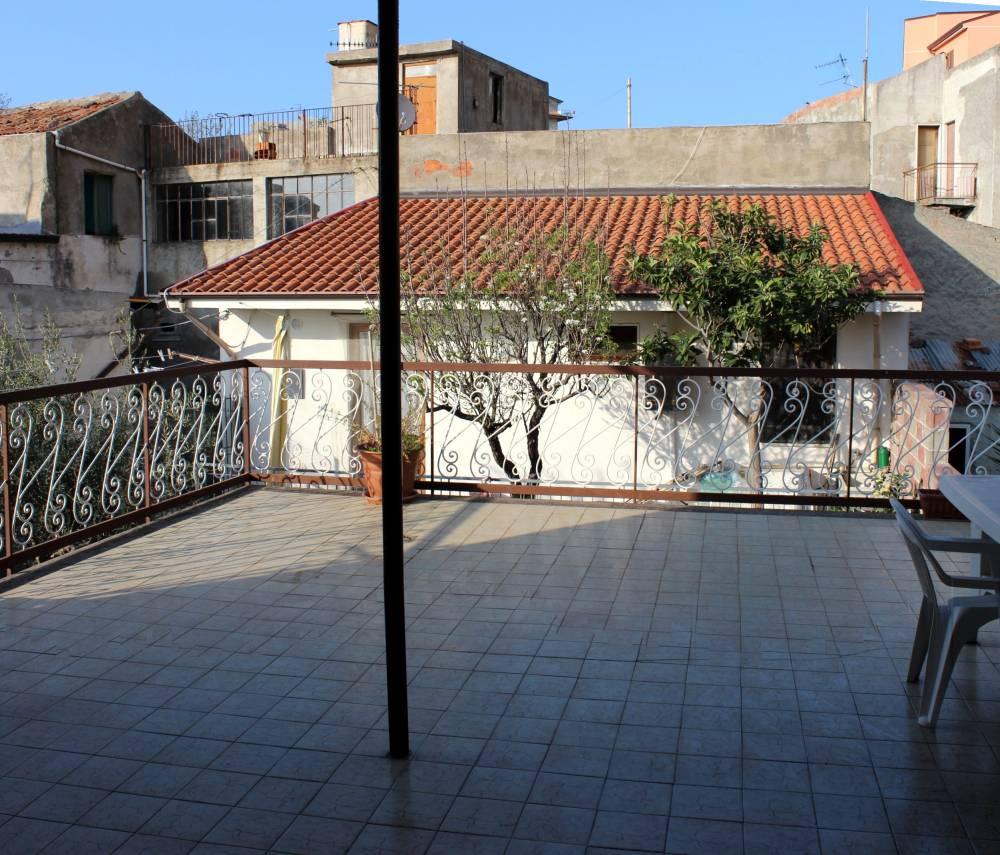 Terrazzo della mansarda con vista panoramica - Casa singola in vendita a Capo d'Orlando CD06VF