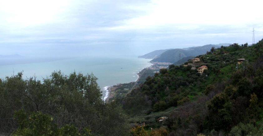 La vista mare dal terreno di Capo d´Orlando