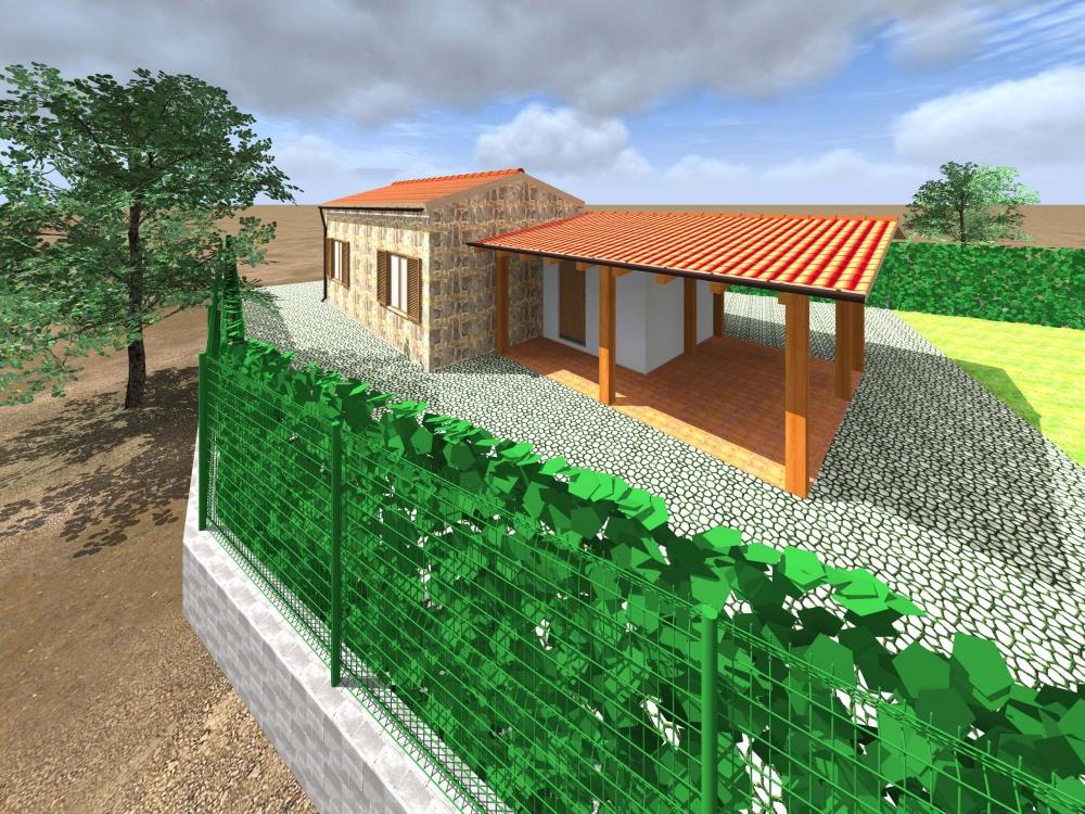 Esterno della villa come da progetto - Torrenova (Sicilia)